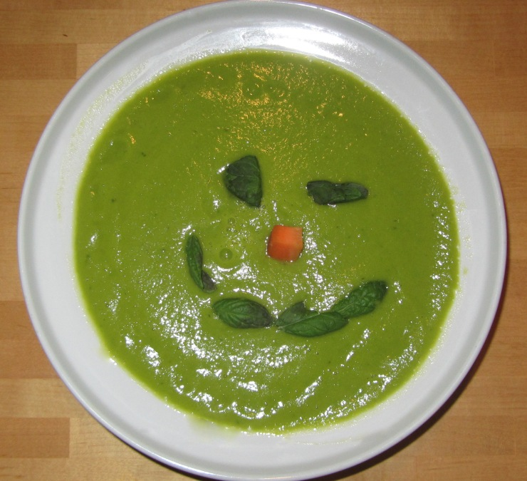 Green pea soup - yes tried to be funny there. Didn`t work:P